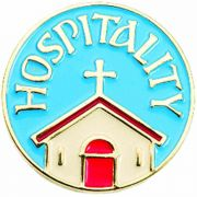 Hospitality Gold Plated & Enameled Lapel Pin - (Pack of 2)