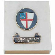 In Recognition of Excellence Episcopal Shield Plaque - (Pack of 2)