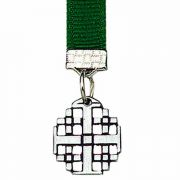 Jerusalem Cross Pewter Bookmark with Ribbon - (Pack of 2)