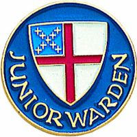 Junior Warden Gold Plated & Enameled Lapel Pin - (Pack of 2)