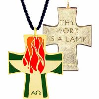 Lector Pendant w/Cord (Word of the Lord Burns in the Hearts) - 2Pk
