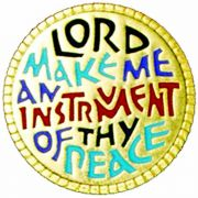 Lord Make Me Instrument of Thy Peace Gold /Enameled Lapel Pin 2Pk