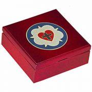Luther Rose Embellished Cherry Wood Keepsake Box
