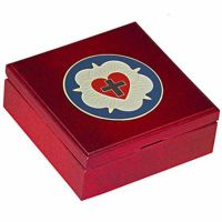 Luther Rose Embellished Cherry Wood Keepsake Box