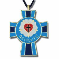 Luther Seal Acolyte Bronze with Enameled Colors Pendant - (Pack of 2)