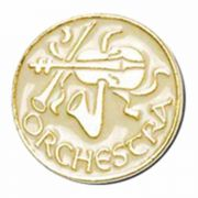 Orchestra Lapel Pin 1/4in. Post and Clutch Back - (Pack of 2)