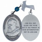Padre Pio Pocket Prayer Token (Pray, Hope and Don't Worry) - 2Pk