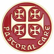 Pastoral Care Gold Plated & Red Enamel Lapel Pin - (Pack of 2)