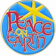 Peace On Earth Gold Plated & Enameled Lapel Pin - (Pack of 2)