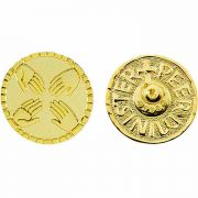 Peer Minister Gold Plated Lapel Pin 1/4in. Post and Clutch Back - 2Pk