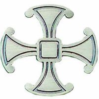 Pewter Canterbury Cross Lapel Pin 1/4in. Post & Clutch Back - 2Pk
