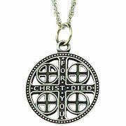 Pewter Episcopal Church Service Cross w/Chain