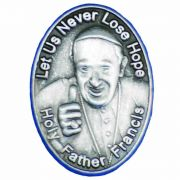 Pope Francis Pewter Plated Lapel Pin, Post and Clutch Back - 2Pk