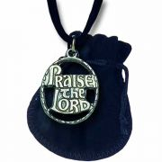 Praise the Lord Pewter Pendant on a Black Suede Cord - (Pack of 2)