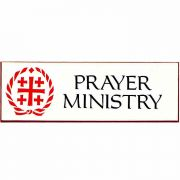 Prayer Ministry Church Badge Large, Easy to Read, w/Bar Pin (2 Pack)