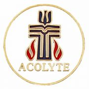 Red and Blue Enamel Presbyterian Acolyte Pin - (Pack of 2)