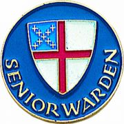 Senior Warden Gold Plated & Enameled Lapel Pin - (Pack of 2)