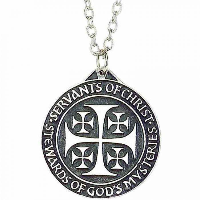 f21a5f0226256 Servants of Christ Stewards of Gods Mystery Necklace Pendant/Chain 2Pk