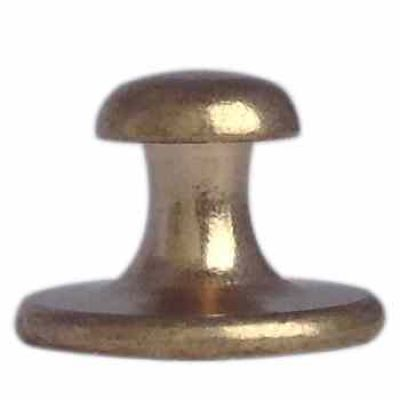Short Shank Brass Plated Collar Button Clergy Apparel - (Pack of 2) -  - CB-03
