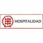 Spanish Hospitalidad Church Badge Large, Easy to Read, w/Bar Pin 4Pk
