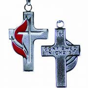Stainless Steel United Methodist Confirmation Cross Necklace