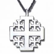 Sterling Silver New Jerusalem Cross Necklace w/ Chain