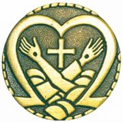 The Crossed Arms of Jesus & Saint Francis Lapel Pin - (Pack of 2)
