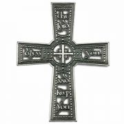 The Lord Bless You & Keep You Wall Cross Plaque Antique Pewter