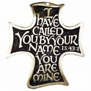 The Lord's Call 6 inch Solid Bronze Wall Cross w/Elegant Calligraphy