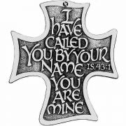 The Lord's Call Wall Cross Plaque Features Elegant Calligraphy