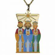 Three Kings Gold Plated & Enameled Christmas Ornament - 2Pk