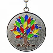 Tree of Life Gold Plated Necklace Pendant - (Pack of 2)