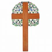 Tree of Life Wall Cross Plaque Bronze w/Multiple Shades of Green