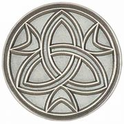 Trinity Antiqued Silver Lapel Pin 1/4in. Post and Clutch Back - 2Pk