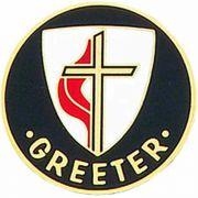 United Methodist Church 1 inch Bronze Greeter Lapel Pin - (Pack of 2)