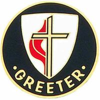 United Methodist Church 1 inch Bronze Greeter Lapel Pin - (Pack of 2)