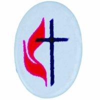 United Methodist Church Cross & Flame Lapel Pin - (Pack of 2)