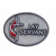 United Methodist Church Lay Servant Lapel Pin - (Pack of 2)
