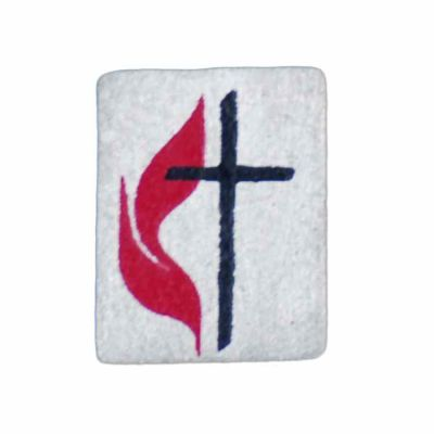 United Methodist Pewter Flame & Cross Lapel Pin - (Pack of 2) -  - B-129