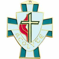 United Methodist Shield Acolyte Necklace Pendant w/Cord - (Pack of 2)