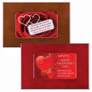 Valentine's Day Wood Keepsake Box with Plush Lining