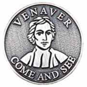 (Venaver Come And See) Pewter Lapel Pin 1/4in. Post - Clutch Back 2Pk