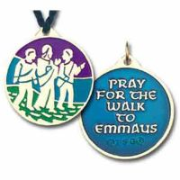 Walk to Emmaus Bronze & Enameled Pendant w/Cord - (Pack of 2)