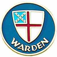 Warden Gold Plated / Enameled Lapel Pin 1/4in. Post/ Clutch Back 2Pk
