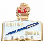 Writing Award Pin w/Red, Blue & White Enamel - (Pack of 2)