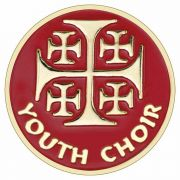Youth Choir Jerusalem Cross Gold Plated & Enameled Lapel Pin - 2Pk
