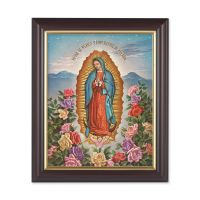 Our Lady Of Guadalupe 10x8 in. Print In a Dark Walnut Frame