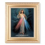 Spanish Divine Mercy 10x8 inch Print In A Fine Satin Gold Frame