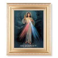 Spanish Divine Mercy 10x8 inch Print In A Fine Satin Gold Frame