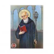 Saint Benedict 19 X 27 inch Italian Gold Embossed Poster (2 Pack)
